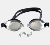Mirror Adult Swimming Goggles Anti-fog UV Protection Black Colour